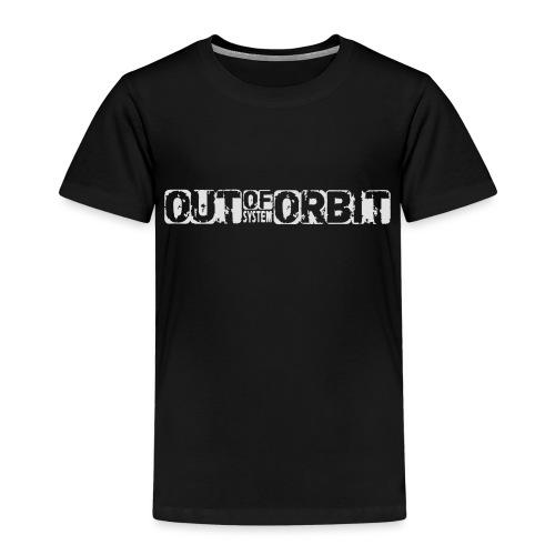 outoforbit witte sticker - Kinderen Premium T-shirt