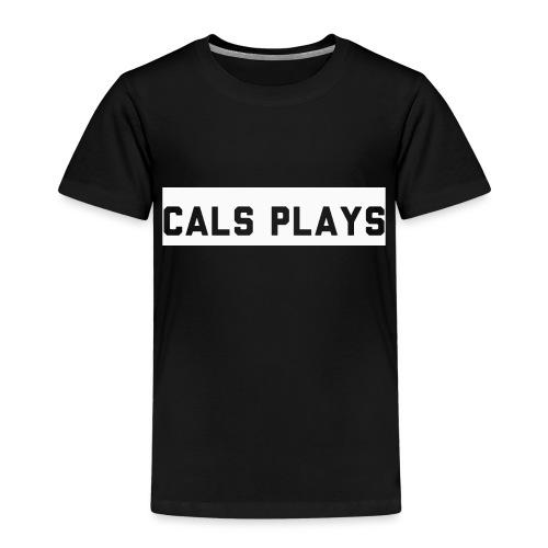 Cals Plays Text White - Kids' Premium T-Shirt