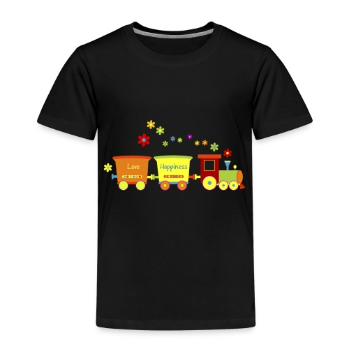 Eisenbahn Kinderspielzeug Zug Frühlingsblumen bunt - Kids' Premium T-Shirt