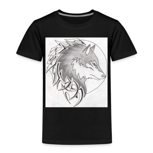 wolf_i_a_moon_tribal_tatt - Kinder Premium T-Shirt