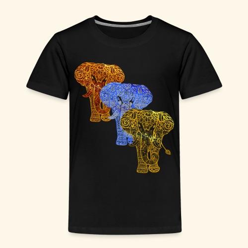 Henna Elephant Mehndi - Kids' Premium T-Shirt
