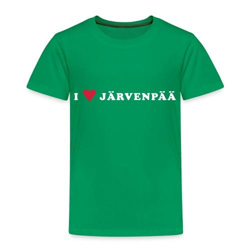 I LOVE JARVENPAA - Lasten premium t-paita