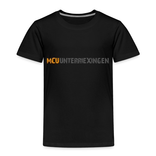 mcu logo 2018 schrift 2c - Kinder Premium T-Shirt