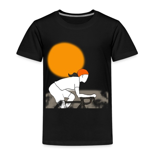 female cyclist - Kinderen Premium T-shirt