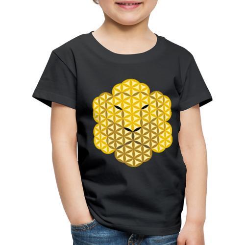The Lion Of Life - Alpha Male, Crown 01 - Kids' Premium T-Shirt