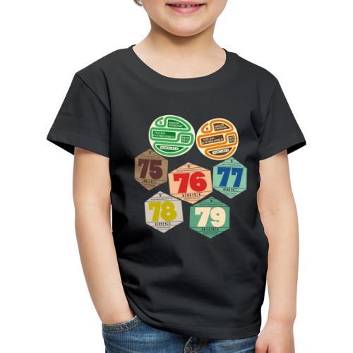 Vignettes automobiles années 70 - T-shirt Premium Enfant