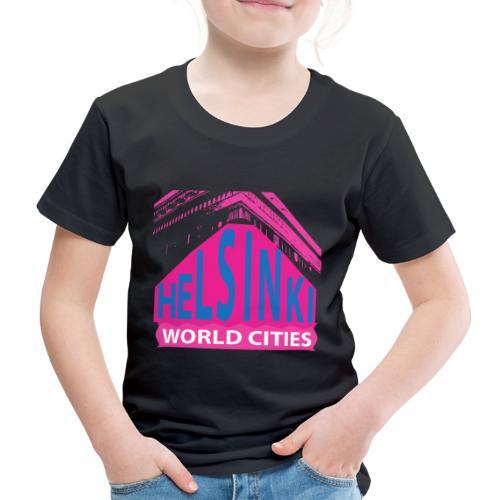 Helsinki2 pink2 - Kids' Premium T-Shirt