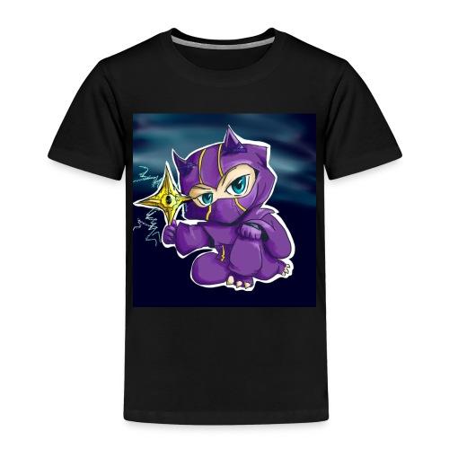 purpel ninja - Børne premium T-shirt