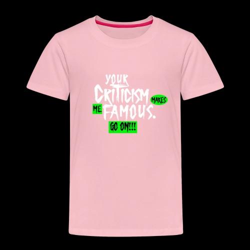 CRITICA 2 - Camiseta premium niño