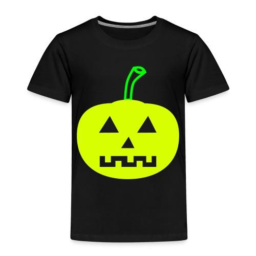 Halloween-Kürbis zweifarbig - Kinder Premium T-Shirt
