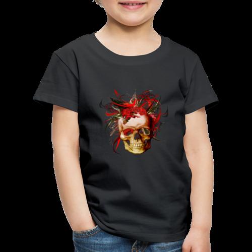 Christmas mismatch skull - Premium-T-shirt barn
