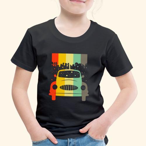Retro Car Vintage Tee Men Women Gift Idea - Kinder Premium T-Shirt