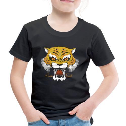 Tiger - Live Fast - Kinder Premium T-Shirt