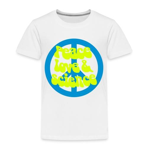 yellowibis peacelovesci2 vec - Kids' Premium T-Shirt