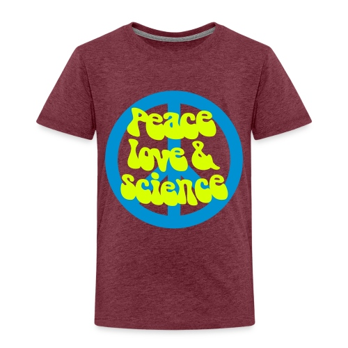 yellowibis peacelovesci2 vec - Kids' Premium T-Shirt