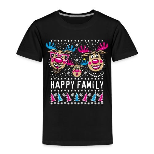 95 Rentier Rudolph HAPPY FAMILY Papa Mama Kind - Kinder Premium T-Shirt