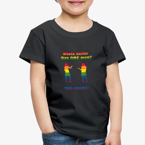 Två mammor - Pride - Premium-T-shirt barn