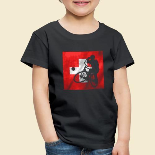 Radball | Flagge Schweiz - Kinder Premium T-Shirt