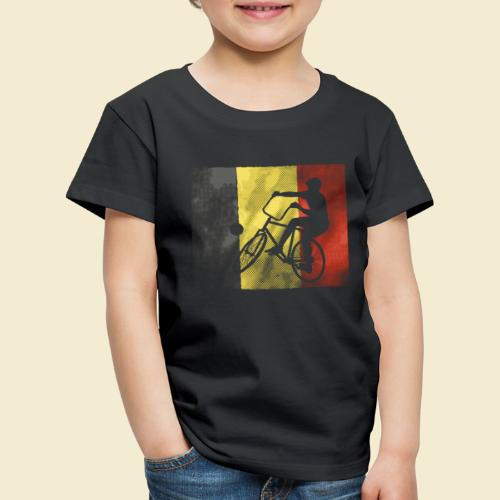 Radball | Flagge Belgien - Kinder Premium T-Shirt