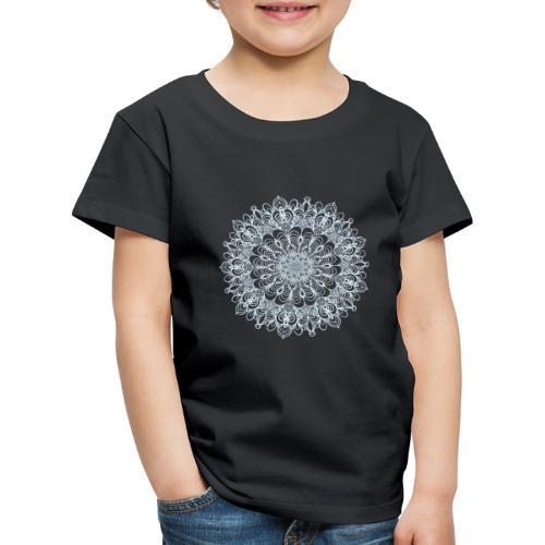 Mandala Zeichnung Kreis Spirale Blumen Line Art - Kinder Premium T-Shirt
