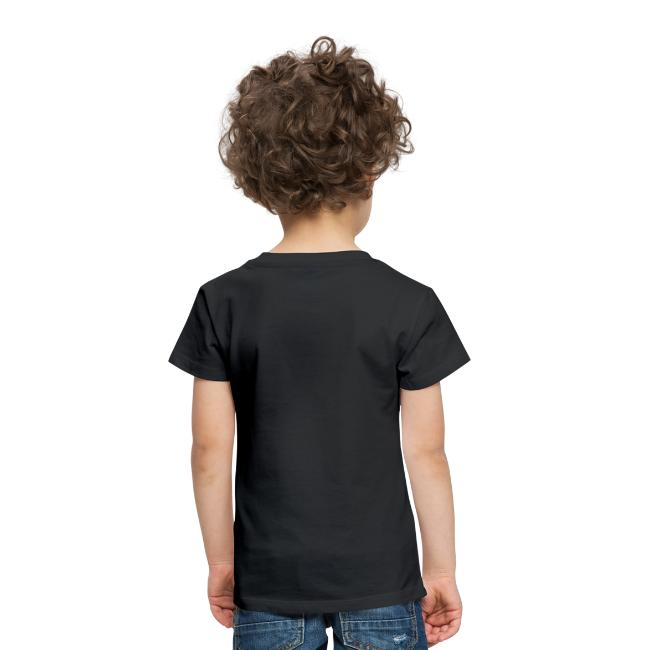 hvid logo på brystet eller ryggen