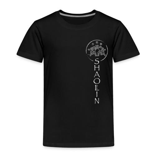 Shaolin Berlin Logo vertikal weiss - Kinder Premium T-Shirt