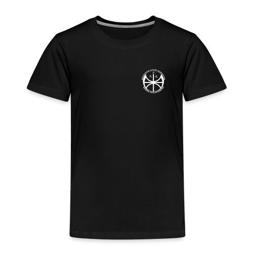 Hvit NAF logo - liten - Premium T-skjorte for barn