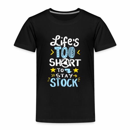 Reifen Schnelligkeit, Leben zu kurz für Stillstand - Kinder Premium T-Shirt
