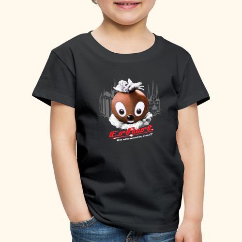 Pittiplatsch 3D Erfurt auf dunkel - Kinder Premium T-Shirt