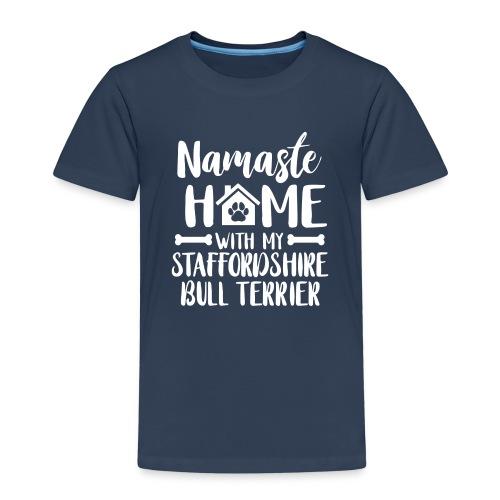 STAFFORDSHIRE BULLTERRIER - NAMASTE - Kinder Premium T-Shirt