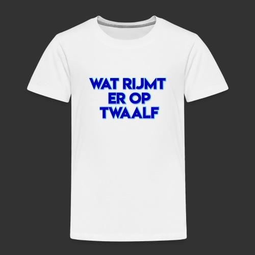 wat rijmt er op twaalf - Kinderen Premium T-shirt