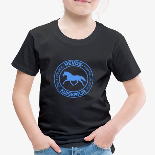 Hevoskuiskaaja Sininen - Lasten premium t-paita