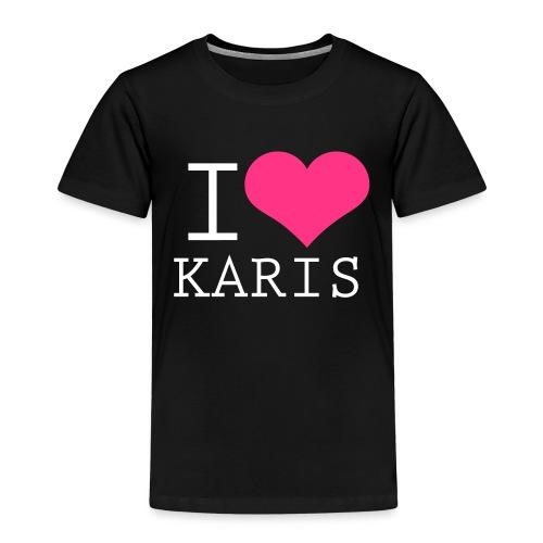 I heart Karis - valkoinen painatus - Lasten premium t-paita