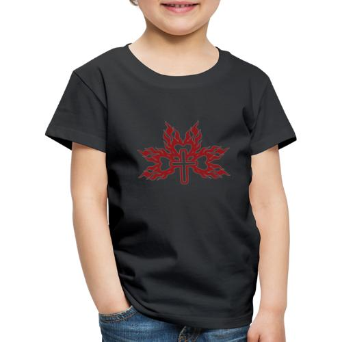Cross with flaming hearts 01 - Kids' Premium T-Shirt