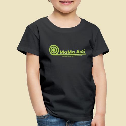 MaMa AnSi G logo - Børne premium T-shirt