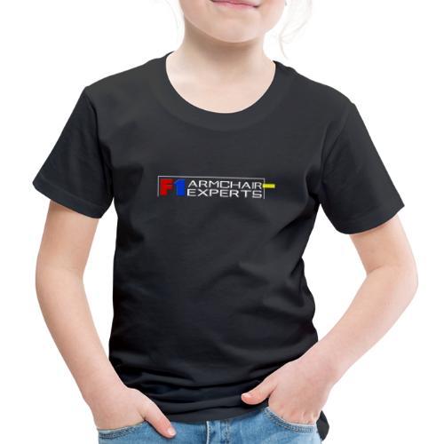 F1 Armchair Expert Official Logo WHT - Kids' Premium T-Shirt