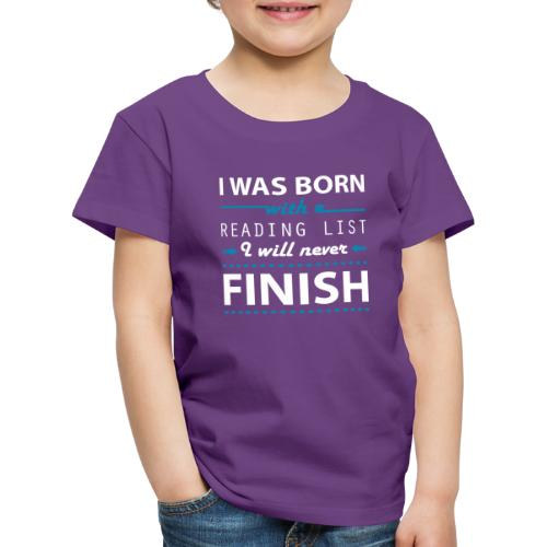 0192 Leseliste | Buchliste | Bücher | Buchwurm - Kids' Premium T-Shirt