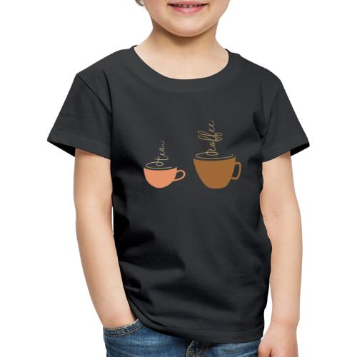 0254 Tea or coffee? That is the question! - Kids' Premium T-Shirt