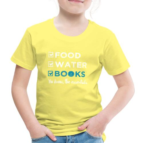 0262 Books | Reading | The important and essential - Kids' Premium T-Shirt