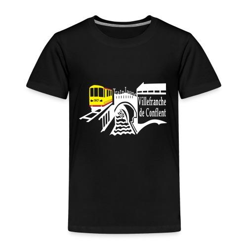 train jaune villefranche de conflent - Kinder Premium T-Shirt