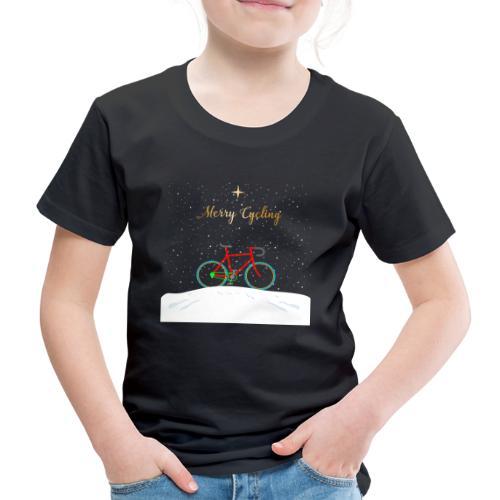 Fahrrad T-Shirt Merry Cycling Weihnachten - Kinder Premium T-Shirt