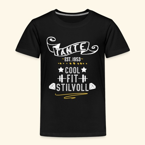 TANTE COOL FIT STILVOLL JAHRGANG 1953 - Kinder Premium T-Shirt