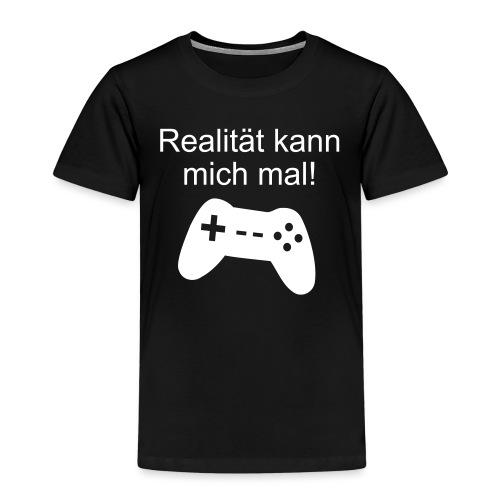 Zocker Gamer Realität Gaming Spruch - Kinder Premium T-Shirt