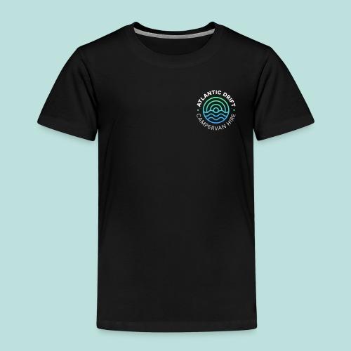 Atlantic Drift Logo (White) - Kids' Premium T-Shirt