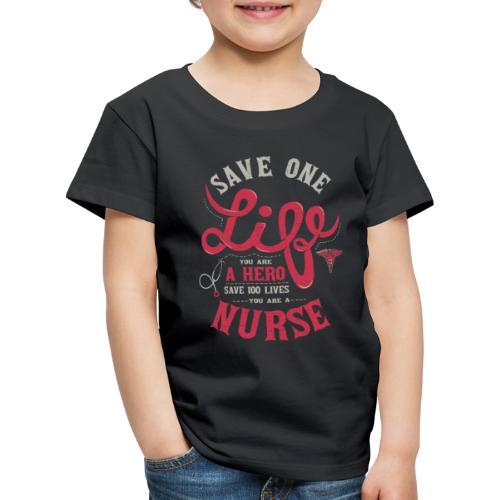 Vintage hero nurse - Lasten premium t-paita