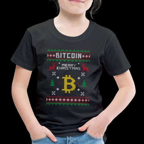 Bitcoin Merry Christmas - Koszulka dziecięca Premium