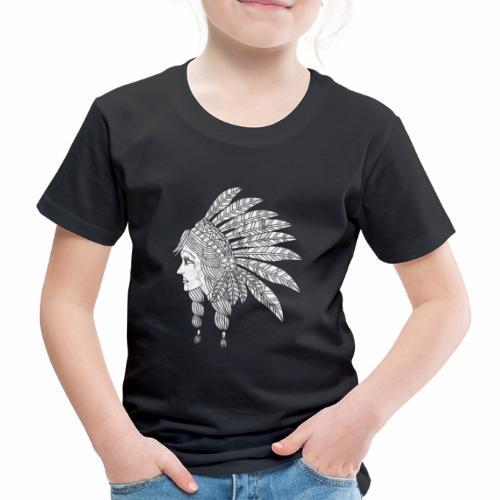 Indian Girl Illustration - Kids' Premium T-Shirt