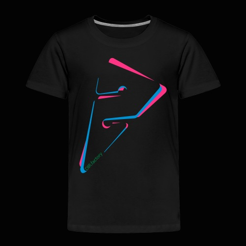 arrow freigestellt mit dirfactorytext - Kinder Premium T-Shirt