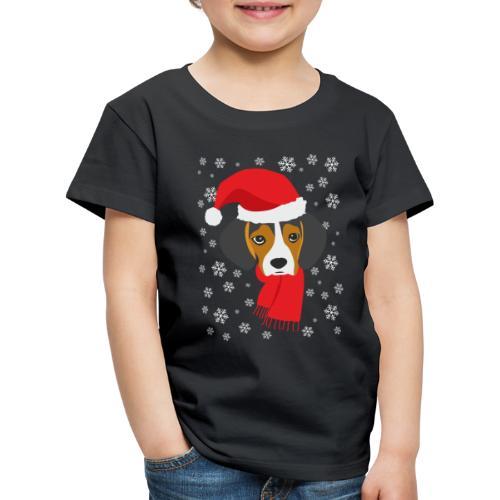 Perrito beagle vestido de Papá Noel - Camiseta premium niño