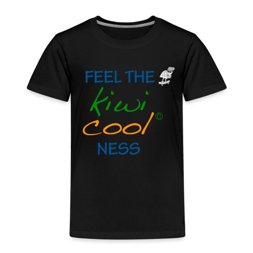 feel the kiwi cool ness 3 png - Kinder Premium T-Shirt